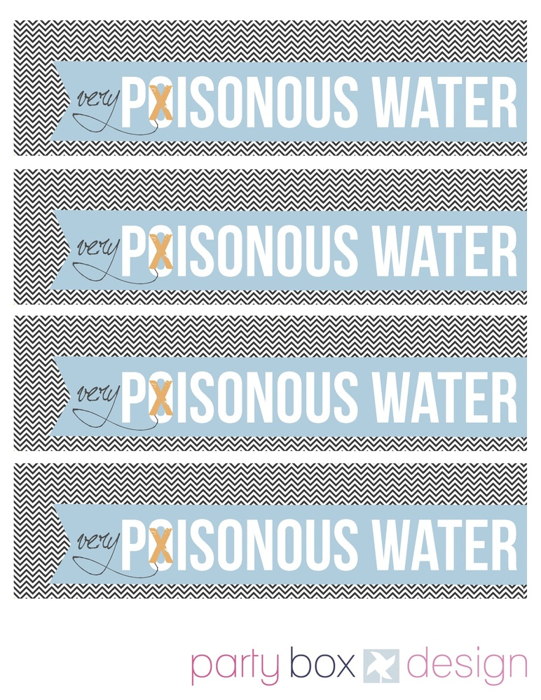 """Creep out your guests or trick-or-treaters by applying these labels to water bottles.  (Photo by <a href=""""http://www.partybox"""