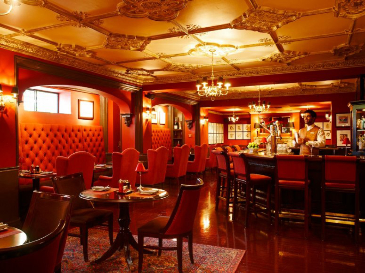 This speakeasy-style bar in the basement of the historic Hay-Adams Hotel, which served as the first family's temporary reside