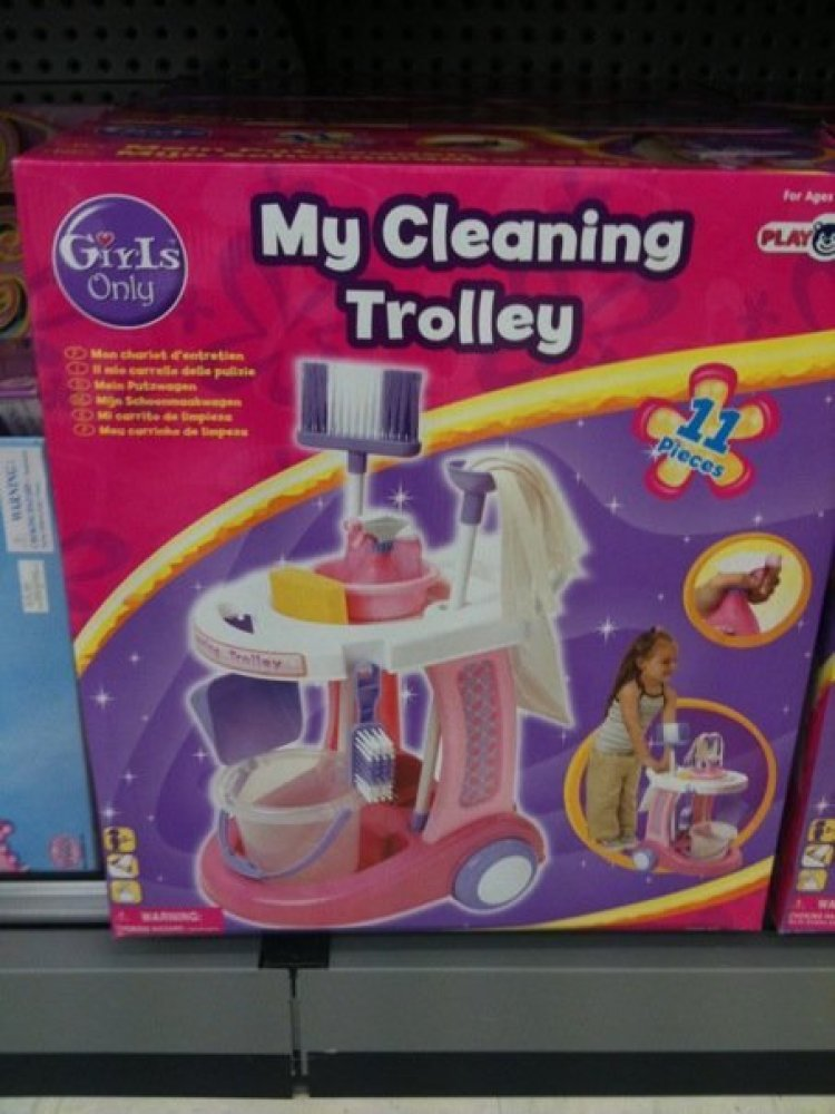 """This """"Girls Only"""" toy is sure to inspire your daughter to reach for the sky...while dusting the high shelves."""