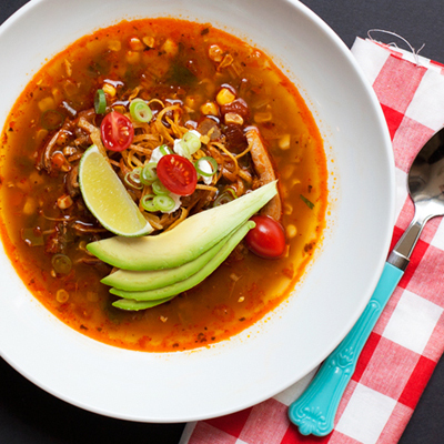 "<strong>Get the <a href=""http://www.hungrygirlporvida.com/blog/2012/08/06/tortilla-soup-with-chiles-charred-corn/"">Tortilla S"