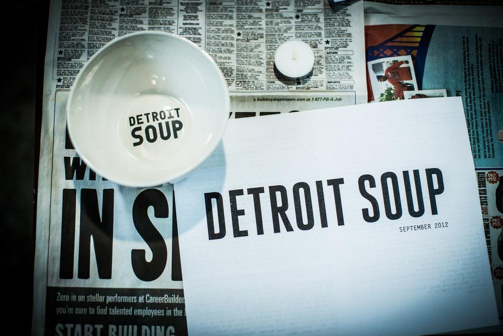SOUP is a microgrant dinner that funds creative projects.