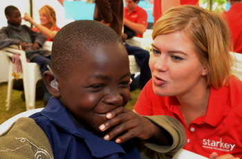 "<a href=""http://www.starkeyhearingfoundation.org/"">The Starkey Hearing Foundation</a> delivers more than 50,000 each year to"