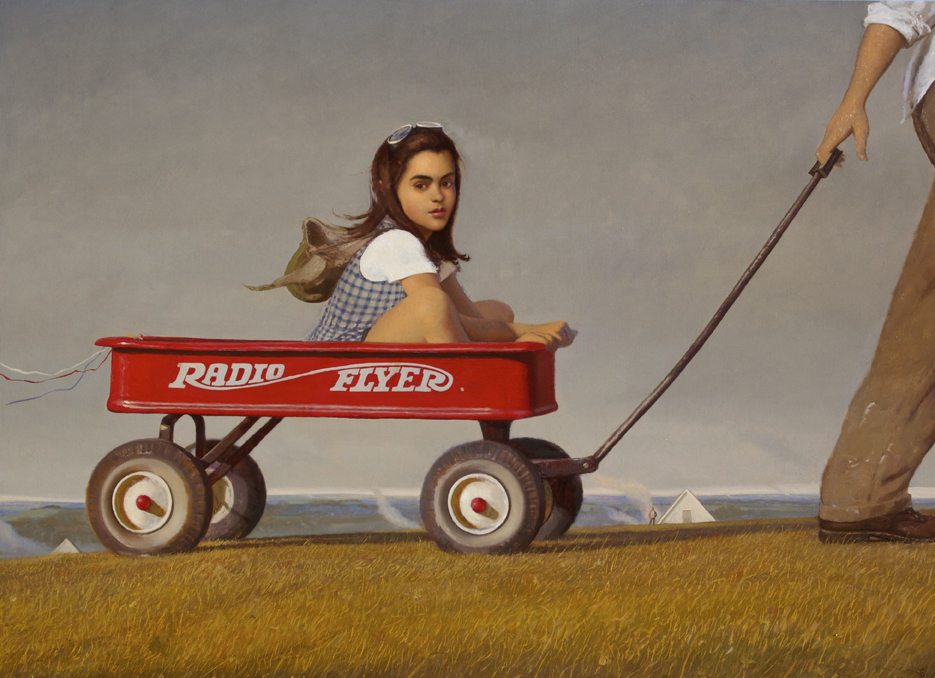 <strong>Bo Bartlett</strong><em>Radio Flyer</em>, 2012 Oil on Canvas 48 x 66 inches Courtesy of P.P.O.W