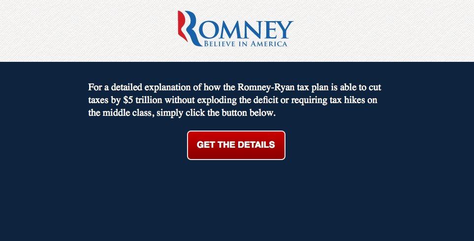 """Finally, a <a href=""""http://www.romneytaxplan.com/"""">simple, straightforward explanation</a>!"""