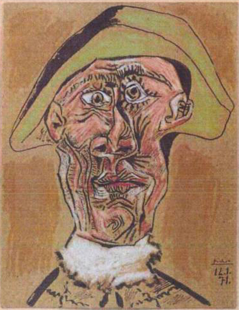This photo released by the police in Rotterdam, Netherlands, on Tuesday, Oct. 16, 2012, shows the 1971 painting 'Harlequin He