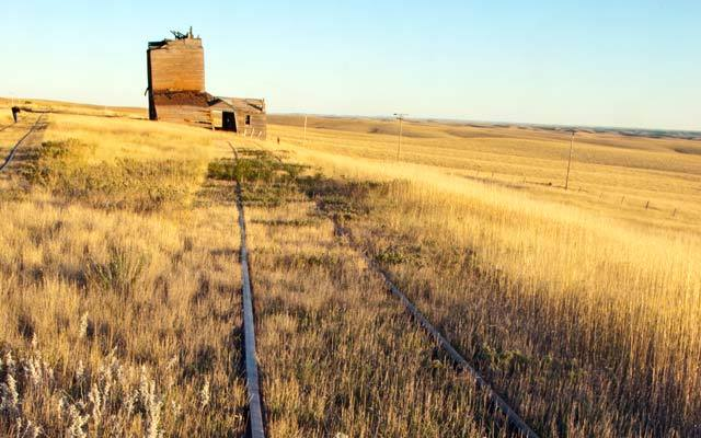 Cattle and crops built this prairie ghost town in the early 1900s. Okaton was once a bustling spot on the railroad to Rapid C