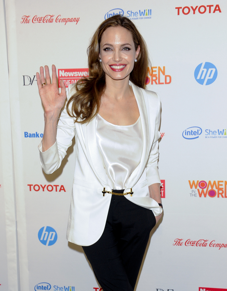 FILE - In this March 8, 2012 file photo, actress Angelina Jolie attends the Women in the World Summit 2012, hosted by Newswee