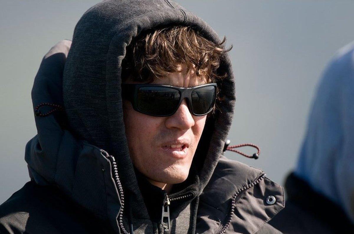Greg Long on the set of Chasing Mavericks. ©Ed Grant grantsgraphics.com