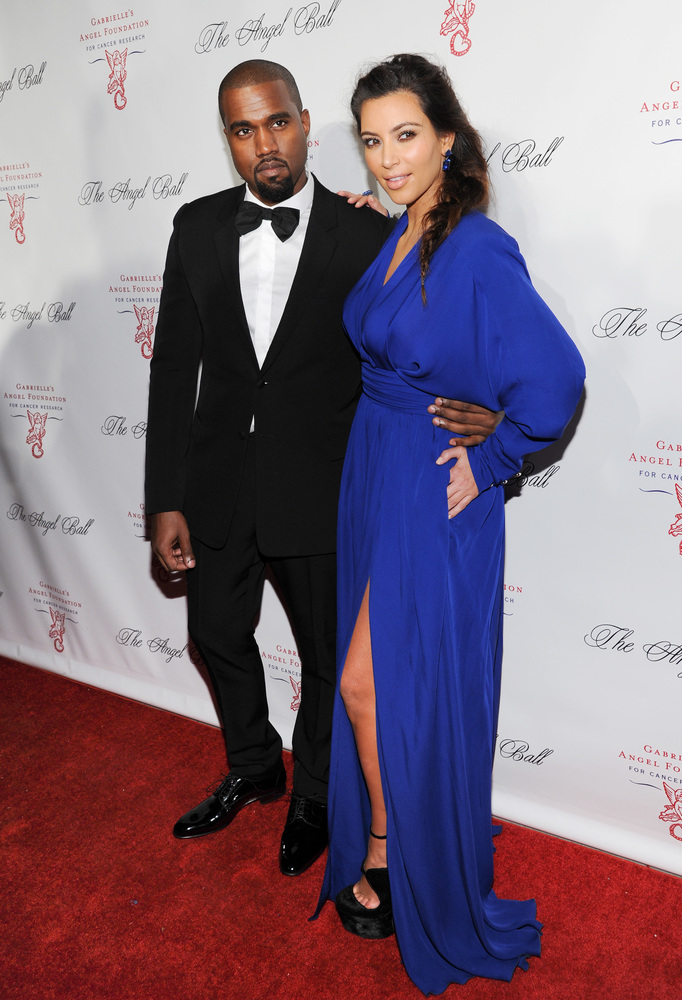 Singer Kanye West and girlfriend Kim Kardashian attend Gabrielle's Angel Foundation 2012 Angel Ball cancer research benefit a