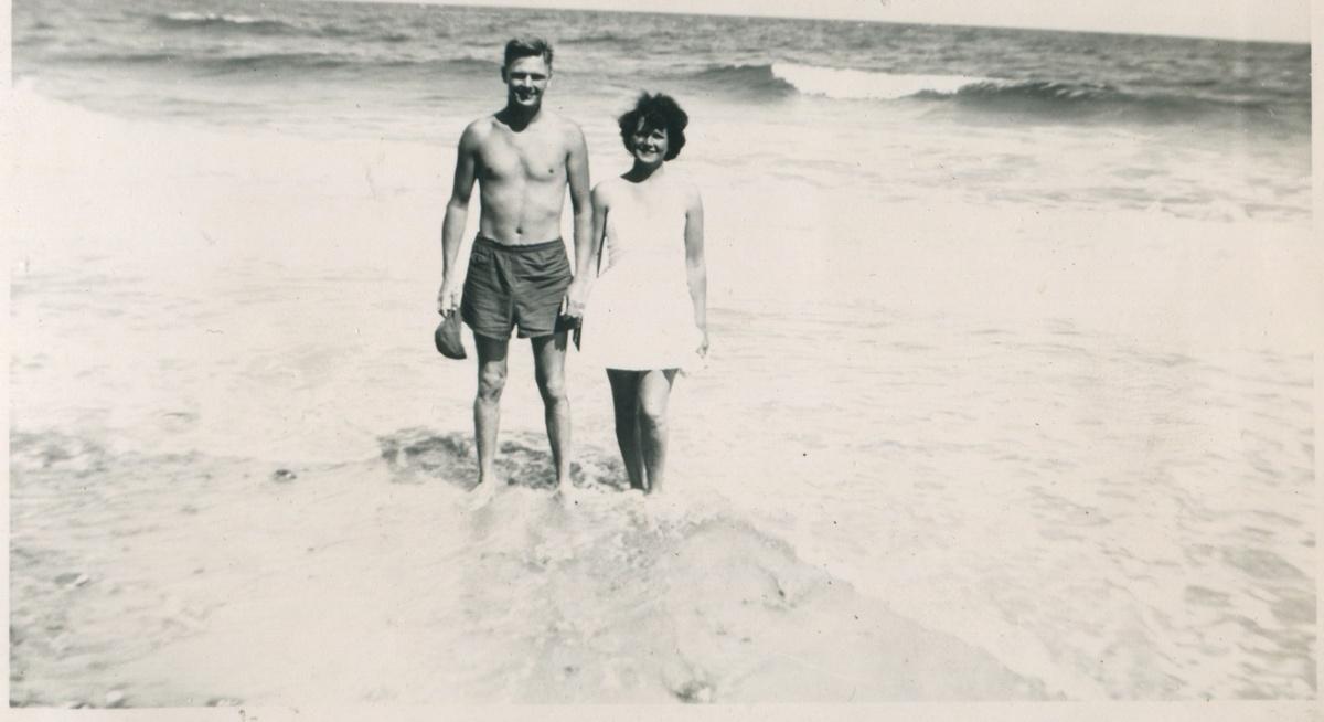Gramma and Grandpa at the beach