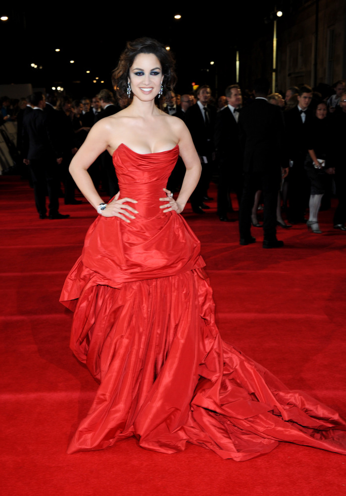 """Berenice Marlohe poses at the world premiere of """"Skyfall"""" on Tuesday, Oct. 23, 2012 in London. (Photo by Stewart Wilson/Invis"""
