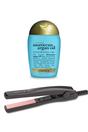 Keep this six-inch Remington flatiron in your top desk drawer for emergency frizz situations or taming unruly bangs. It heats