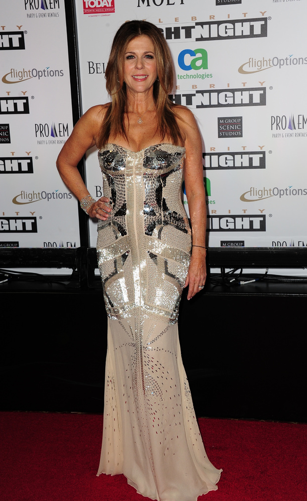 Actress Rita Wilson arrives at the Muhammad Ali's Celebrity Fight Night XVIII on March 24, 2012 in Phoenix, Arizona. The even