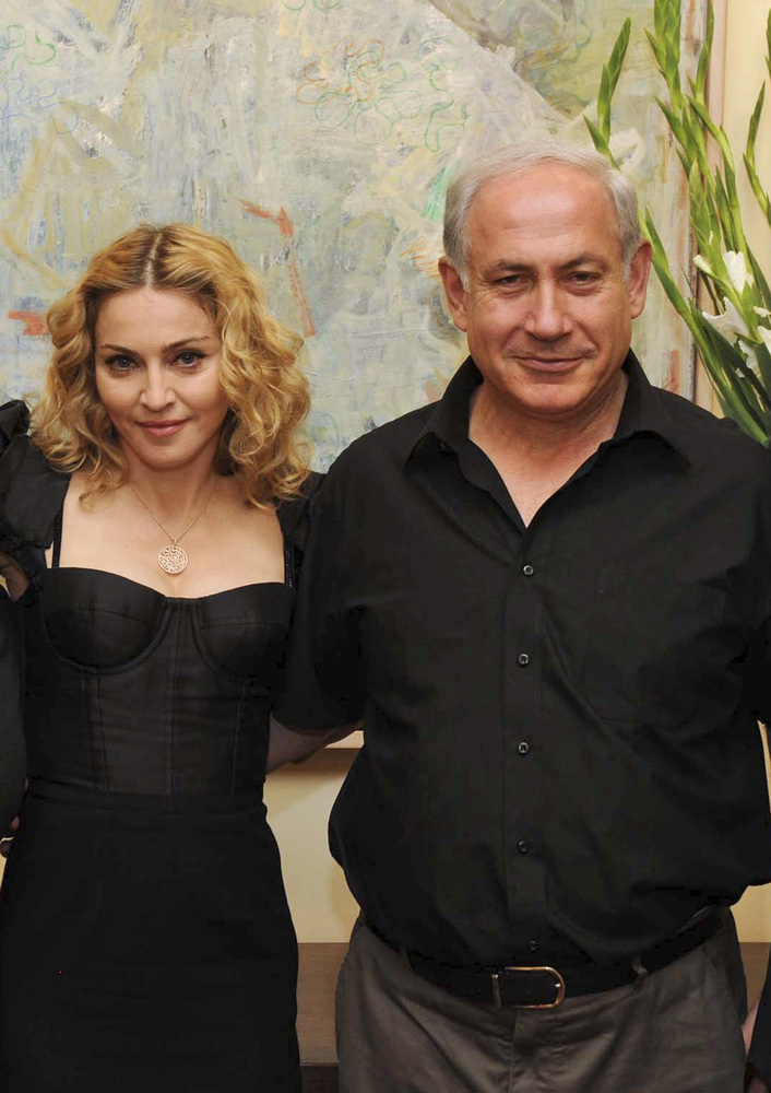In this handout photo released by the Government Press Office, Israeli Prime Minister Benjamin Netanyahu seen during a meetin