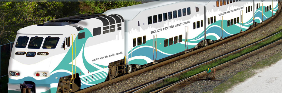 Rendering of the South Florida East Coast commuter train.