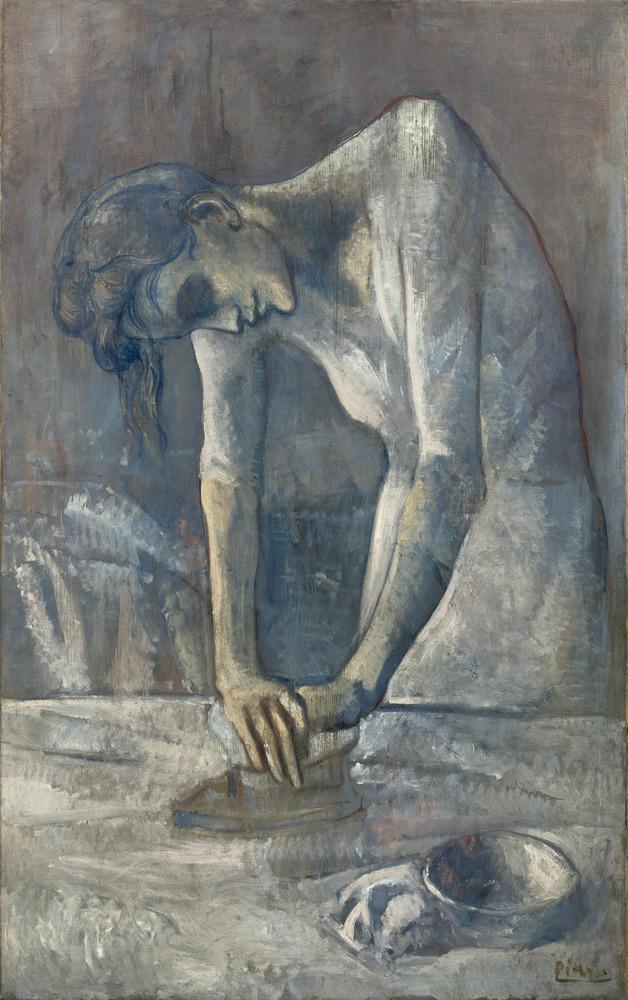 Woman Ironing (La repasseuse) Bateau-Lavoir, Paris, spring 1904 Oil on canvas, 116.2 x 73 cm Solomon R. Guggenheim Museum, Ne