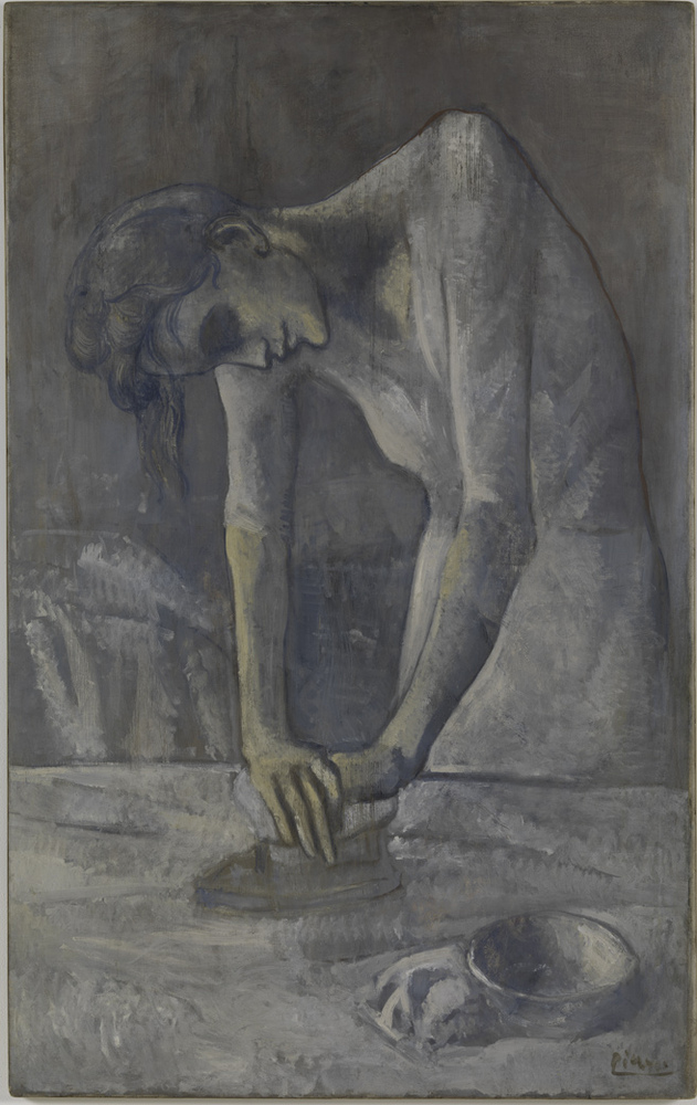 The painting titled <em>Woman Ironing</em> by Pablo Picasso is seen in this image supplied by the Guggenheim Museum.
