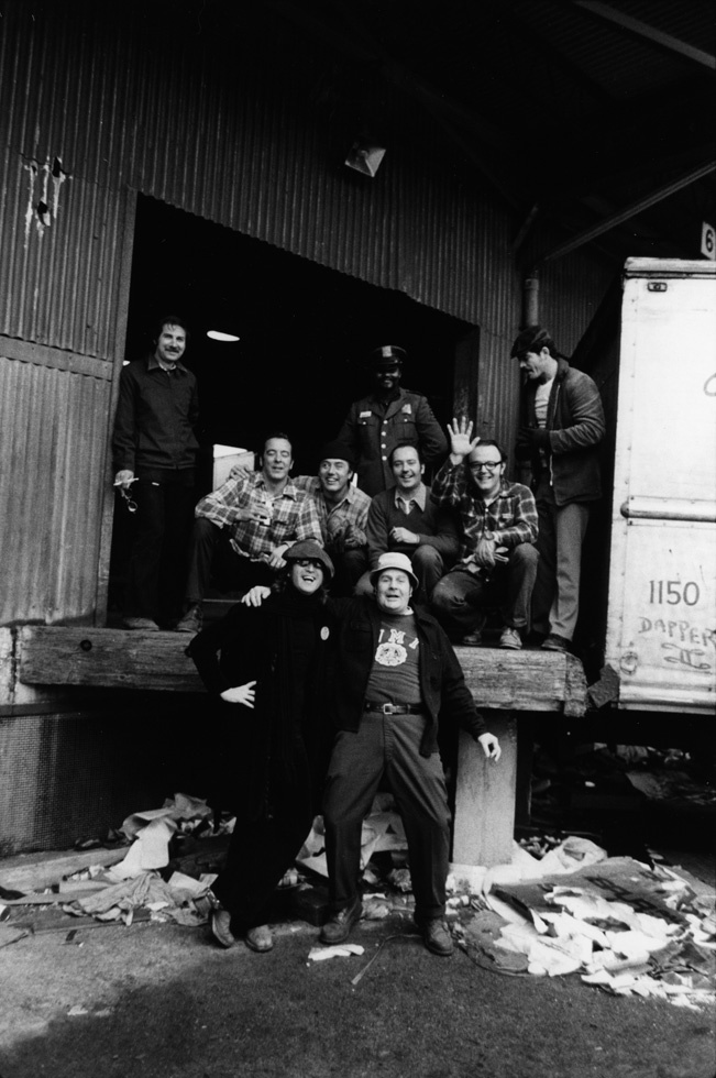 "John Lennon on October 24, 1974 on New York's West Side.   David Gahr on the image of John Lennon with the truckers: ""One of"