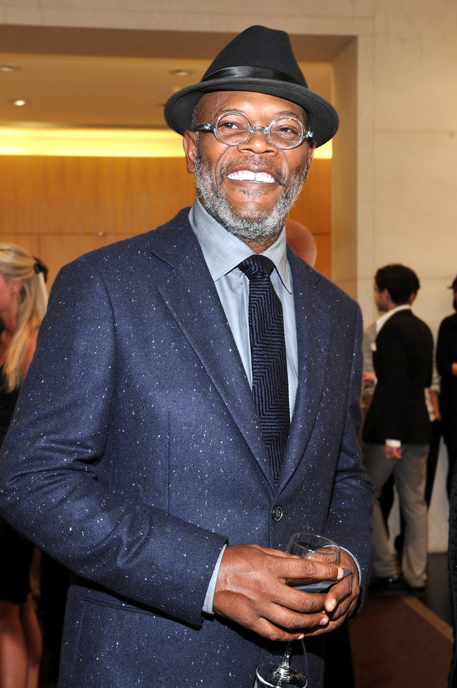 NEW YORK, NY - SEPTEMBER 08:  Actor Samuel L. Jackson attends the Giorgio Armani Madison Avenue event at Giorgio Armani Madis