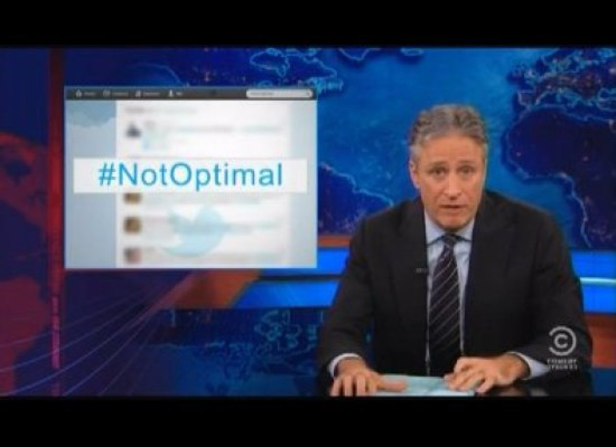 """Jon Stewart finds himself in the middle of a <a href=""""http://gtcha.me/RfGavM"""" target=""""_blank"""">presidential controversy</a> th"""