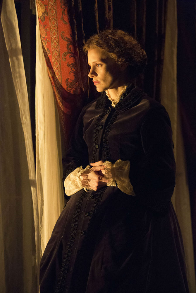 """Jessica Chastain as Catherine Sloper in """"The Heiress"""""""