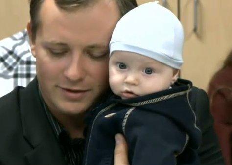 Denis Bukhantsov and his surviving son, Mark.