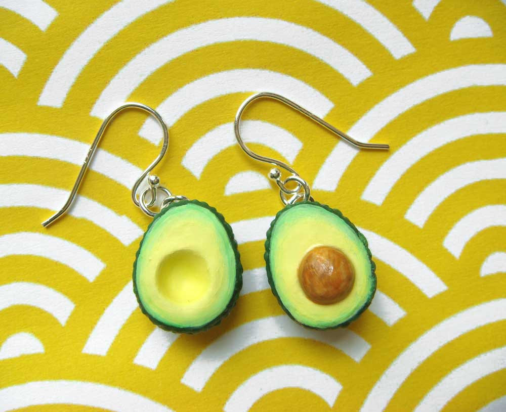 """<strong>Get these <a href=""""http://www.etsy.com/listing/82723209/food-jewelry-avocado-earrings?ref=sr_gallery_2&sref=sr_92e58e"""
