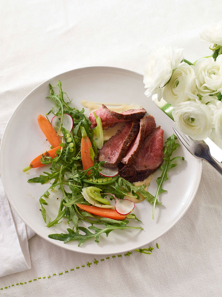 """A spoonful of miso adds savory richness to a warm beef salad.  Get the recipe for <a href=""""http://www.oprah.com/food/Warm-Rar"""