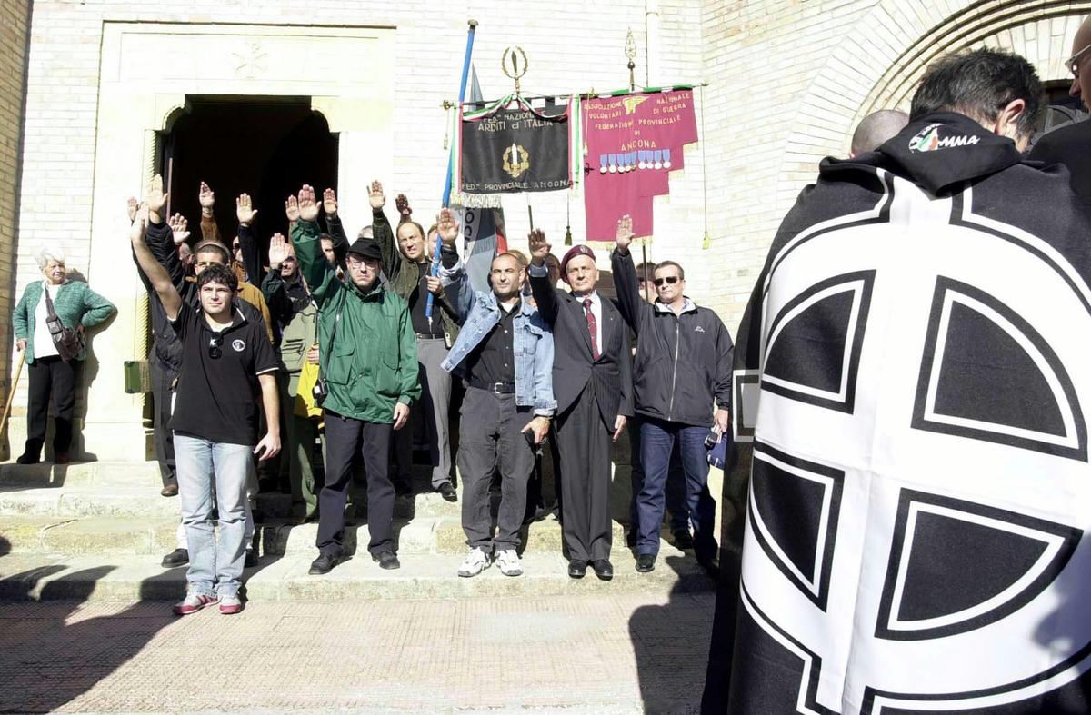 Neo-Fascists gathering in Predappio on the occasion of the commemoration of the 80th anniversary of the March on Rome.