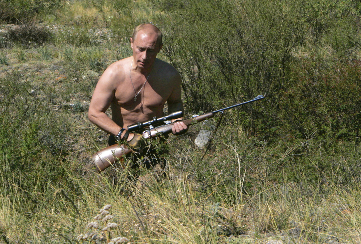 It's not that hard to get the Vladimir Putin look, all you have to do is think ultimate Hollywood buff - or action movie vill