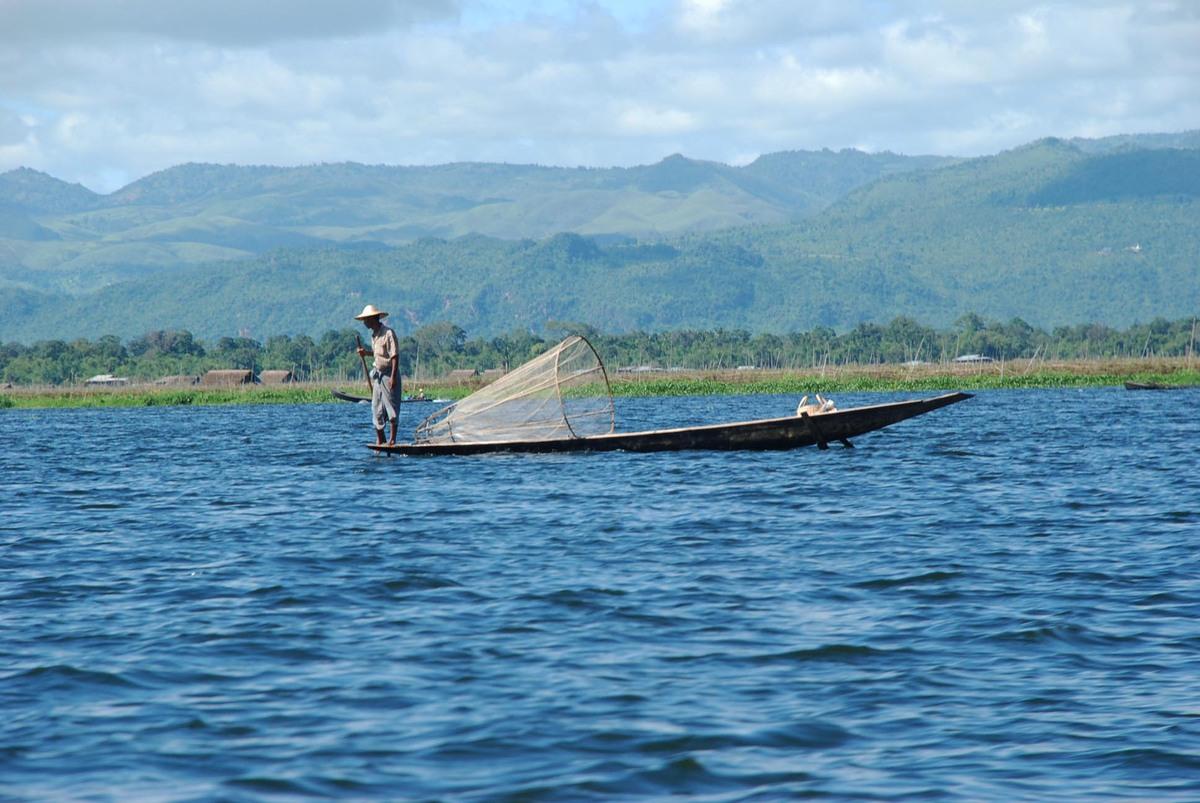 Fisherman on Inle Lake.