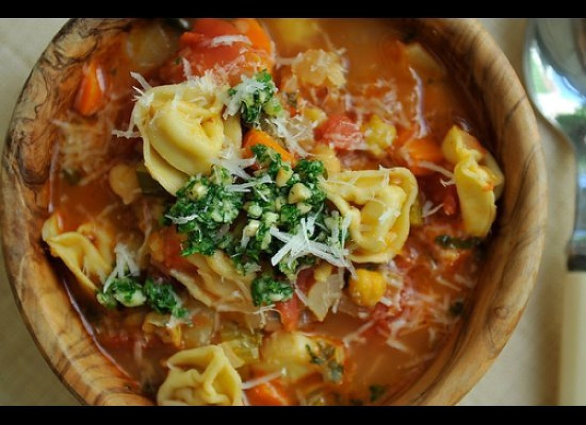 The smokiness of the bacon permeates the minestrone, imbuing the tomatoey broth with a depth of flavor it wouldn't have othe