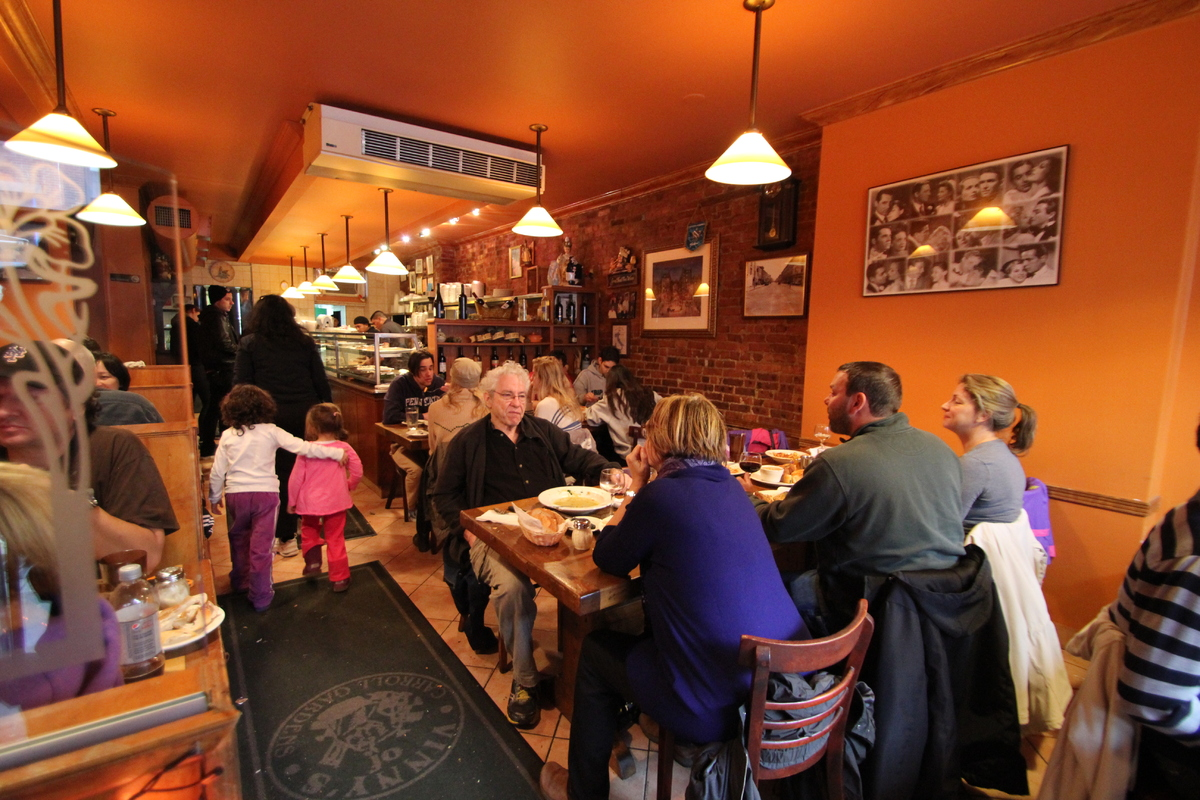 Vinny's remained open most of Monday and Tuesday, with a line out the door.