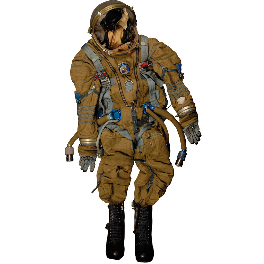 Sokol III Spacesuit; complete training-used Sokol III 'Strizh' made as a launch and re-entry suit for the Russian 'Buran' spa