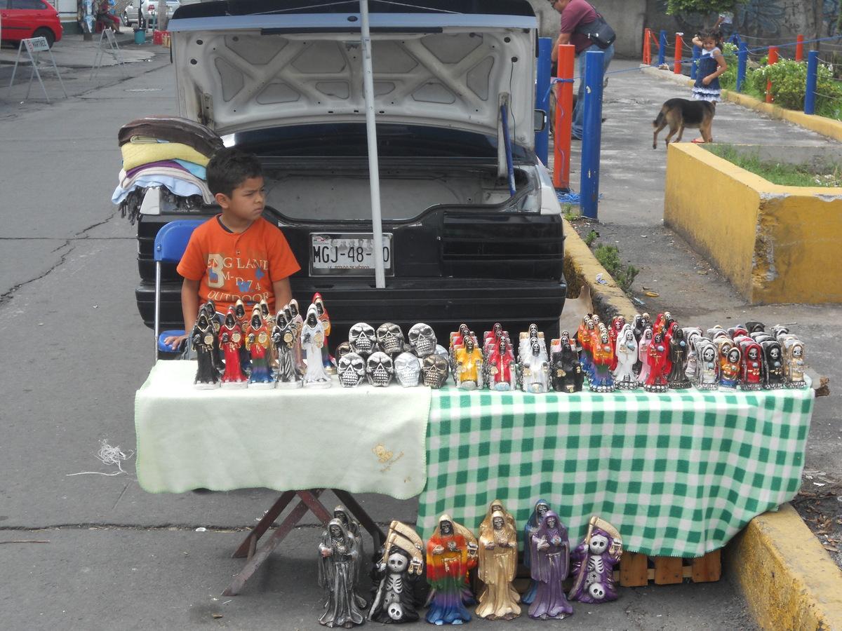 Death for Sale, near Dona Queta's famous shrine in Tepito, Mexico City