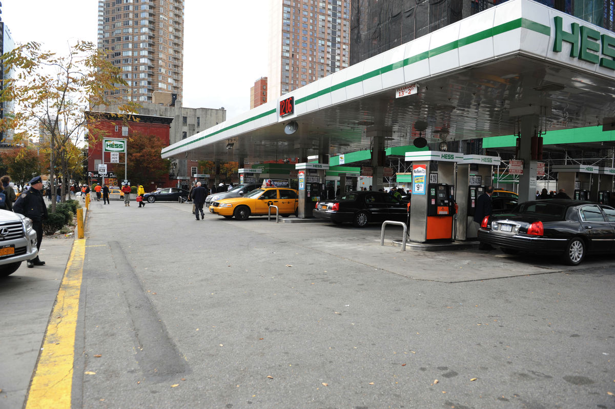 The Hess gas station located at 45th street and 10th ave. in Manhattan was inundated with customers on Friday Nov. 2, 2012 as