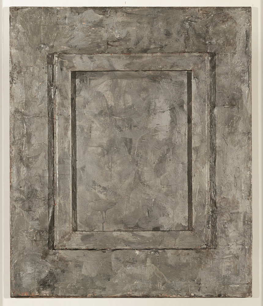 Jasper Johns, Canvas, 1956; encaustic and collage on wood and canvas; 30 x 25 in. (76.3 x 63.5 cm); Collection of the artist,