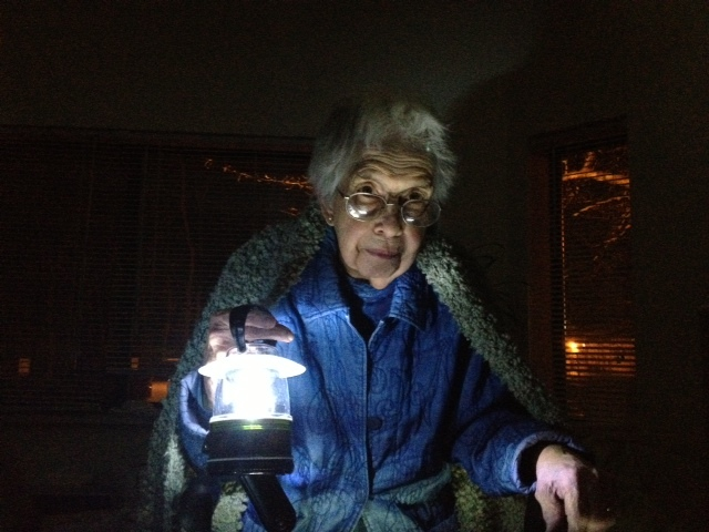 Gloria Connolly, 86, lives in the Leisure Park Retirement Apartments of Lakewood, N.J. As a result of Hurricane Sandy, the ap