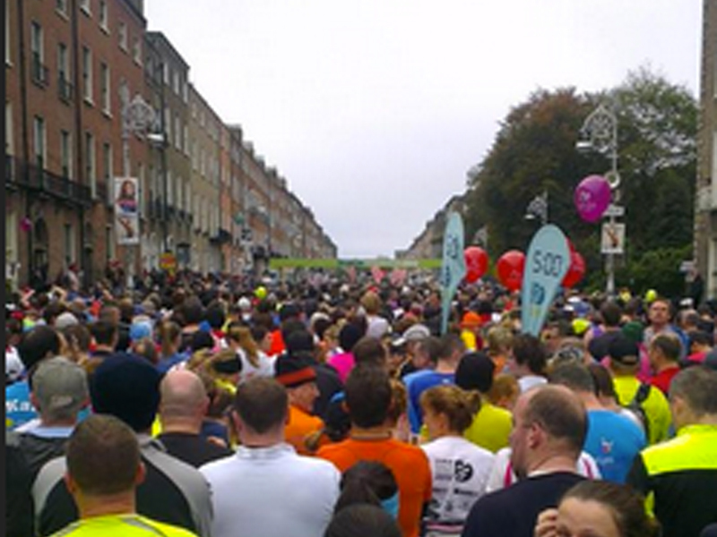 On October 29, 2012, two runners in the Dublin Marathon abandoned their target times to help another: Wes Nolan was suffering