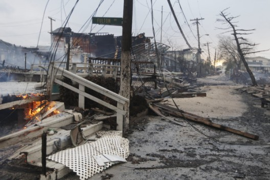 "Twitter User: @c_heller ""Another photo out of Breezy Point. The damage is stupefying. (Frank Franklin II, AP) http://twitpic."