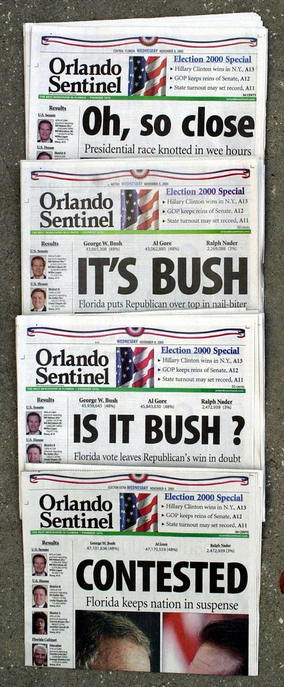Among the most infamous elections in U.S. history was the 2000 contest between George W. Bush and Al Gore. After a painstakin
