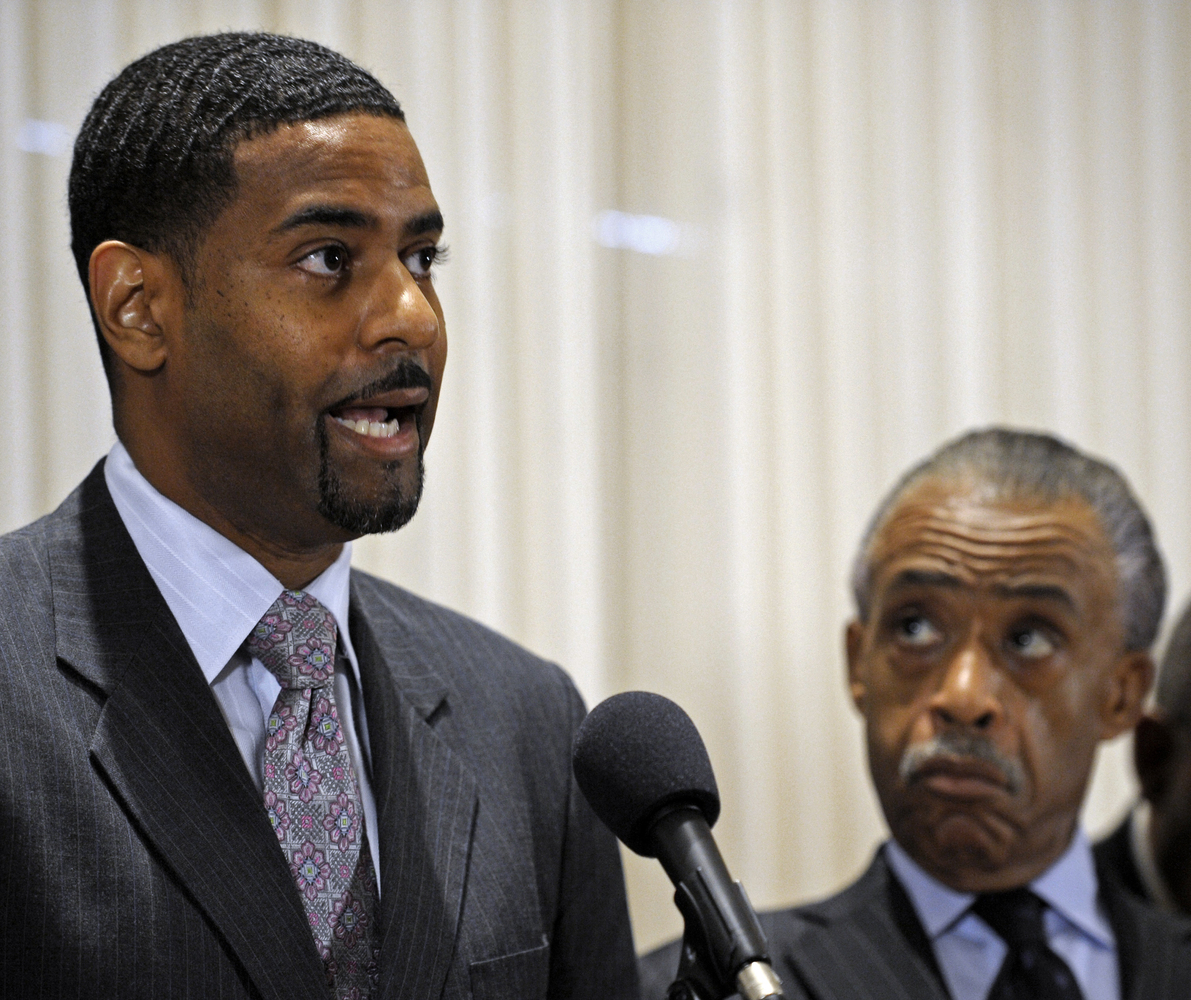 Rev. Otis Moss III, pastor of Chicago's Trinity United Church of Christ, endorsed Obama, who was formerly a member of the chu