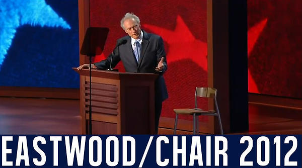 """This speech was a <a href=""""http://www.huffingtonpost.com/2012/08/31/invisible-obama-tweets-clint-eastwood-rnc_n_1846152.html"""""""
