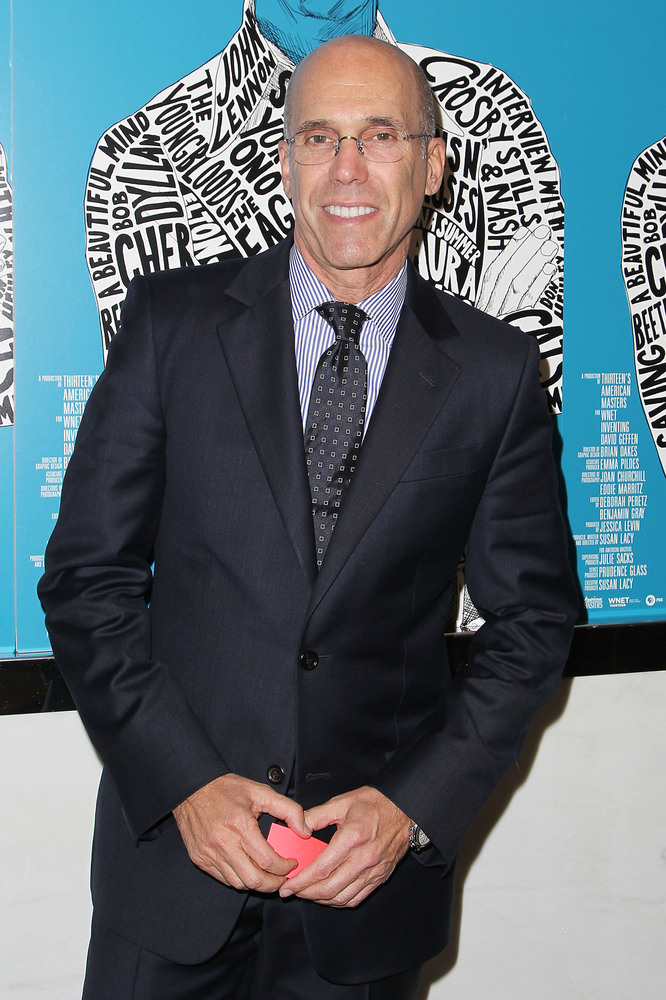 """This image released by Starpix shows producer Jeffrey Katzenberg at the premiere of """"Inventing David Geffen,"""" at The Paris Th"""