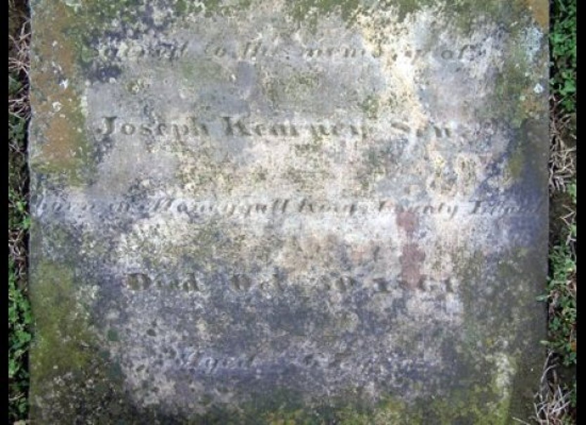 This Ohio tombstone for Joseph Kearney, father of Fulmoth Kearney, pointed the way to Moneygall. Without it, the President's