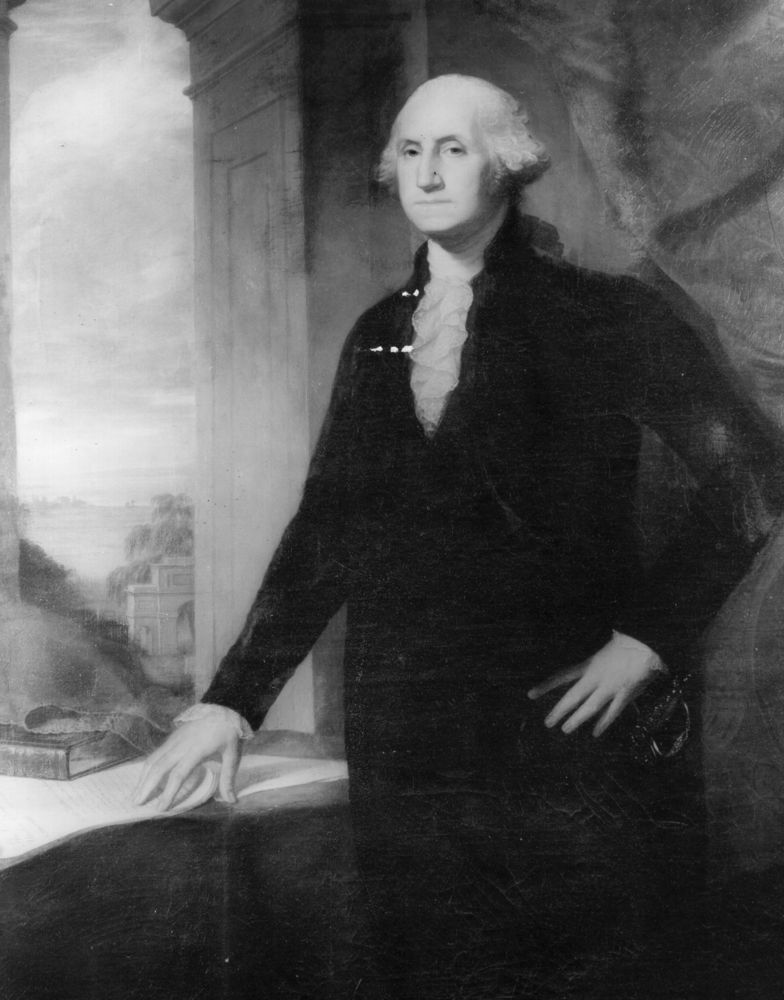 "<a href=""https://www.whitehouse.gov/1600/presidents/georgewashington"">1st President</a> of the United States (Photo by Three"