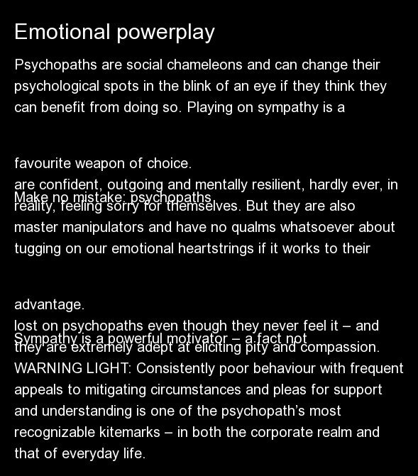 Symptoms Of A Psychopath In Men