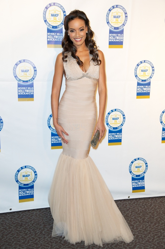 LOS ANGELES, CA - NOVEMBER 05: Selita Ebanks attends the 22nd Annual NAACP Theatre Awards at Directors Guild Of America on No