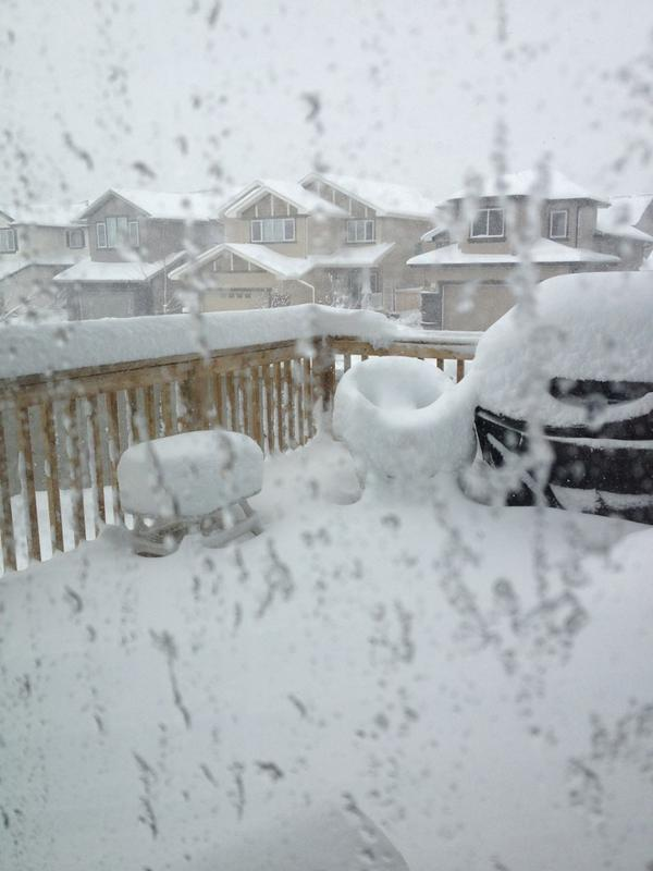 """""""About 30cm & counting."""" St. Albert, Alberta, Canada.  (Credit: <a href=""""https://twitter.com/mommybyday/status/26627248665042"""