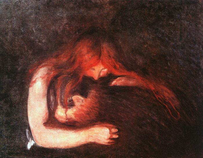 """The Vampire"" by Edvard Munch."